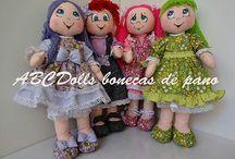 Abcdolls bonecas de pano by Celia / Bonecas de Pano para brincar e decorar