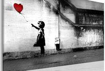 Banksy / Interesuje Cię street art? Oto kilka propozycji wzorów, które doskonale sprawdzą się w nowoczesnych aranżacjach :)