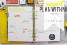 plan2create on youtube / find my latest planner videos | DIY ideas to customize your planner | how to add stickers and stamps to create your own unique planner pages