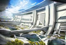 Architecture concept. Future.