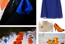 Cobalt, Tangerine, Ivory/White Fall Wedding / I recently saw this gorgeous combination of cobalt blue and oranges on the cover of Better Homes & Gardens for their latest issue (Oct 2014).  I thought it was a fresh idea for fall.  It immediately spurred the idea of how great it would be for a fall wedding and so this board was born!  Add a little white/ivory, maybe some shades of tangerine, and maybe a beige or chocolate brown and off you go!