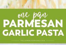 Parmesan garlic pasta