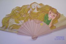 Handpainted Spanish Fan