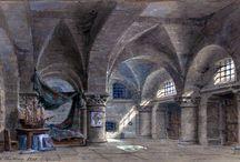 Philippe Chaperon / Bühnenbildentwürfe und Bühnenbildmodelle von Philippe Chaperon (1823-1907)
