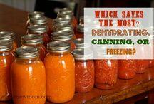 Food :: Dehydrating canning & freezing / by Kiersten Powell