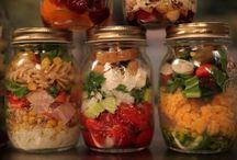 σαλάτες σε βάζο