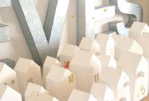 Calendrier de l'avent DIY / Idées, astuces pour réaliser soi-même des calendriers originaux et déco. #Noël #avent #calendrier #DIY