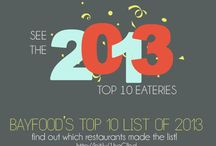 Bayfood's Top 10 Places to Eat in 2013 / For the past three years, I created a top ten list of the restaurants I've most frequently eaten at or really liked out of all the places I tried. I guess it's become a component of this blog, so I had to do it again for 2013! This list is mostly comprised of places that I tried for the first time that really stood out to me throughout the year.  Who doesn't love arbitrary Top Ten lists? Don't take my rankings too seriously since I am in no way a food/culinary expert.  | http://bit.ly/1haGlbd