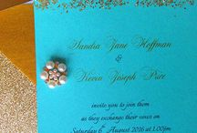 Glitter & Gold / Invitations with a touch of glamour and sparkle to 'wow' your guests
