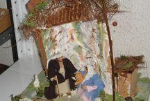 Oggetti e Presepi / oggetistica varia in legno dipinti a mano presepi