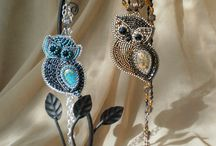 Beaded Owls