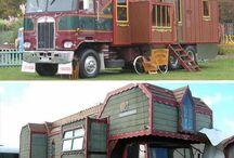House truck and caravan