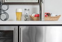 Home Bars / Home bar configurations such as bars in a game room, kegerators in an addition or wine fridges in kitchens.