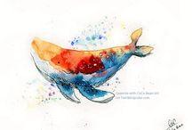 ☆ Watercolors :) ☆ / watercolor paintings