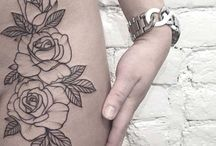 Rose/Floral Hip tattoo ideas