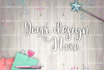 MockUps / Our gorgeous styled desktop photos are perfect to showcase your business, teaching your products and other purposes. Easy to place your own design and give them glam style ♥