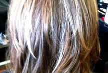 Shoulder length hair hair