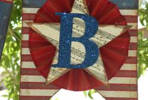 Red White & Blue crafts