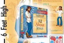 """Elementary Curriculum / JESUS IN JEANS™ shares Jesus' life and teachings with kids, K - 5th grade, in a relevant way that will help them relate to him and apply his truths to their everyday life. Based on Luke 2:40 """"There the child grew strong in body and wise in spirit. And the grace of God was on him."""" our goal is to include everything kids need to grow strong in body, live wise in spirit and enjoy God's grace in everyday life. www.JesusInJeans.com or http://www.creativeforkids.com/curriculum-resources.html"""