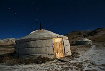 MONGOLIA - Culture / Mongolia is a land of nomadic herders roaming the vast open steppe living in felt gers (yurts)