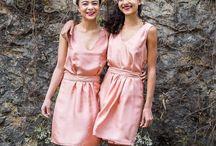 Sangbarani - bridesmaid - demoiselles d'honneur / Harmonious and colorful bridesmaid dresses.  Vos robes de demoiselles d'honneur personnalisables dans une jolie harmonie de couleurs et de formes.