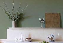 olijfgroene muur