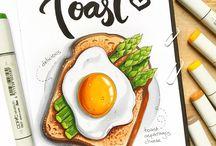 kreslený jídlo