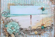 Scrapbooking beach pages