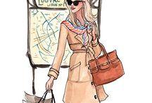 ♣️ Fashion Illustrations ♣️ / Fashion Drawings & Sketches