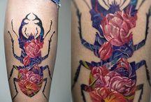 tatuagens dupla exposição