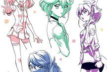 Yuzu, Ruri, Rin and Serena