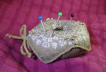 my made / crafty, handmade, jewelry, earring, bracelet, pincushion