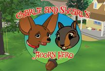 Charlie and Shearl's Acorn Hero / Draw the best route to help Shearl the Squirrel ride the line to get home with her gold acorns! Fun line rider game for all ages! Multiple levels and challenges. For #iOS. #Android, #Kindle, #Nook & #Tabeo. http://fatredcouch.com/Charlie_and_Shearls_Acorn_Hero