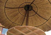 Rieten parasol