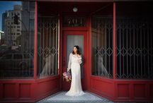 West Coast Cool Styled Shoot / These shots by Betsi Ewing in Downtown LA are the perfect send-off to the weekend! The delicate sleeves and embroidery on our VT6310 dress fit beautifully with the cool, West Coast vibe of this shoot and we love all of these stylish city backdrops. Enjoy~