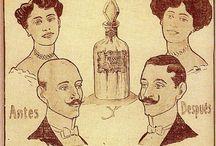 publicidad antigua productos para la calvicie / publicidad de productos que se utilizaban antiguamente para combatir la calvicie