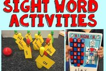Sight Word Activities / Strategies and activities for teaching sight words.  These fun teaching ideas will help students learn important sight words.