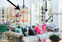Boho / Bohemian homes,clothes, gypsy art, comfortable and colorful furniture.
