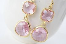 Pink bridesmaids jewelry