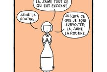 Everyday People, En Francais / french greeting cards