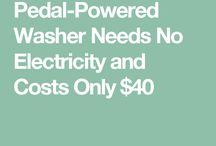 peddled-powered washer