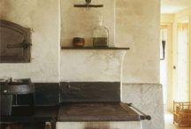 Cocinas rústica bonitas / Chimeneas de hierro  / by jose alonso