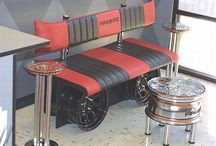 Automotive Furniture / Artistic & useful items made from automotive parts & accessories