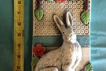 Лепка зайцы