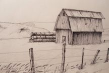 Pen and Ink drawings,