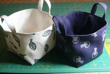 Fabric Baskets/Buckets / by Denise Holster
