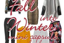 Fall into Winter mini-capsule / ...6 patterns, 7 pieces, a whole closet-full of easy-peasy outfits...