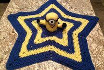 hæklet stjerne tæppe