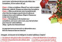 Chasse au trésor des Canadiens / by Chantale Pinel