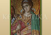 Ψηφιδωτά Αγίου Όρους/ Mosaic from Mount Athos / Οι παρούσες ψηφιδωτές εικόνες αποτελούν δείγματα. Κατόπιν παραγγελίας μπορεί να κατασκευαστεί οποιαδήποτε ψηφιδωτή εικόνα διαφόρων διαστάσεων, με οποιοδήποτε θέμα εντοιχισμένη ή φορητή. ---------------------------------------------------------------------------- These mosaic icons are samples. On request can be produced any mosaic image of various dimensions, with any topic walled or portable.